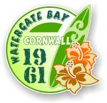 Cornwall Watergate Bay 1961 Surfer Surfing Design Vinyl Car sticker decal 97x95mm